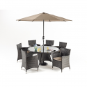 Port Royal Luxe 6 Seater Round Garden Dining Set