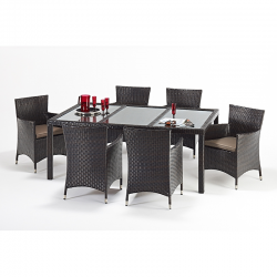 Port Royal Luxe Rectangular 6 Chair Dining Set