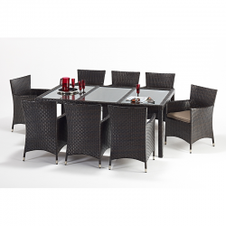 Port Royal Luxe Rectangular 8 Chair Dining Set