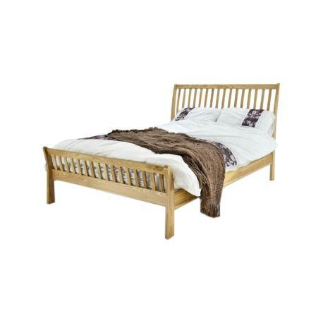 Arun solid ash wood bed frame king size forever furnishings for Wood bed frames for king size beds
