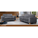 California Grey Fabric 2+3 Seater Sofa Suite
