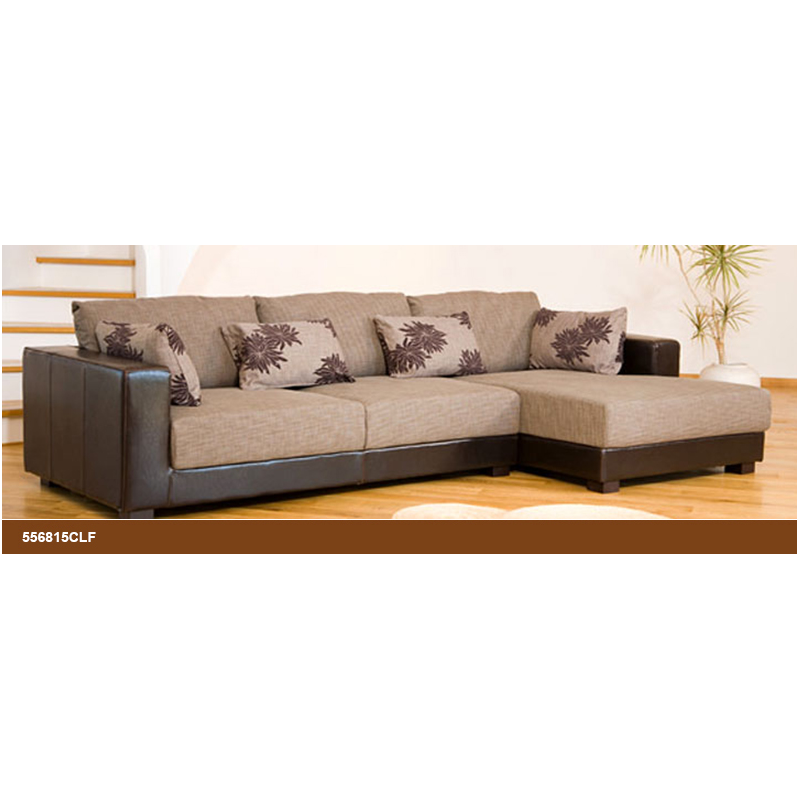 Desert Fabric and Leather BrownBeige Corner Sofa  : desert fabric and leather brownbeige corner sofa from www.foreverfurnishings.co.uk size 800 x 800 png 339kB