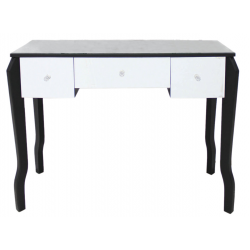 Mirrored Dressing Table with Black Trim