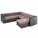 Port Royal Luxe Brown Large Corner Sofa