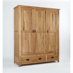 Westbury Reclaimed Oak Triple Wardrobe