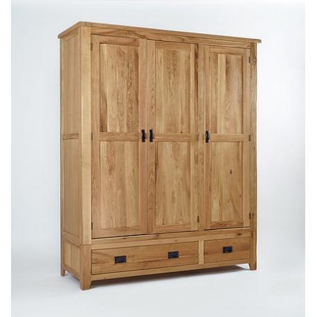 Westbury Reclaimed Oak Triple Wardrobe Forever Furnishings