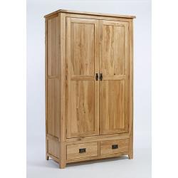 Westbury Reclaimed Oak Double Wardrobe