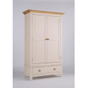 Camden Ivory Double + 2 drawer wardrobe