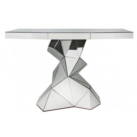 Charmant Mirror Console Table With Iceberg Base