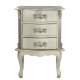 Champagne 3 Drawer Side Table