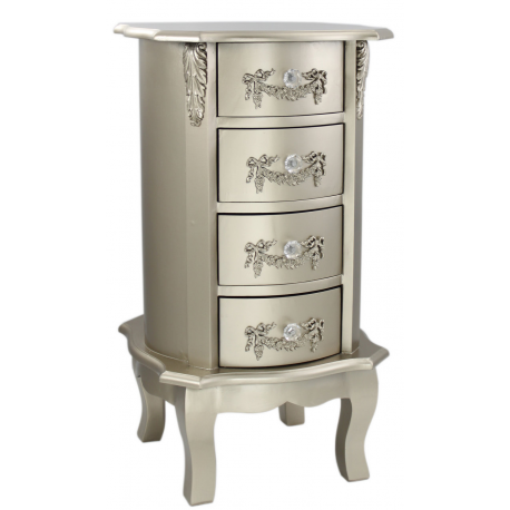 Champagne 4 Drawer Narrow Chest