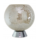 Mercury Silver/Gold Mosaic Globe Lamp