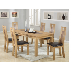 Harvard SolidOak Dining Table + 6 Chairs