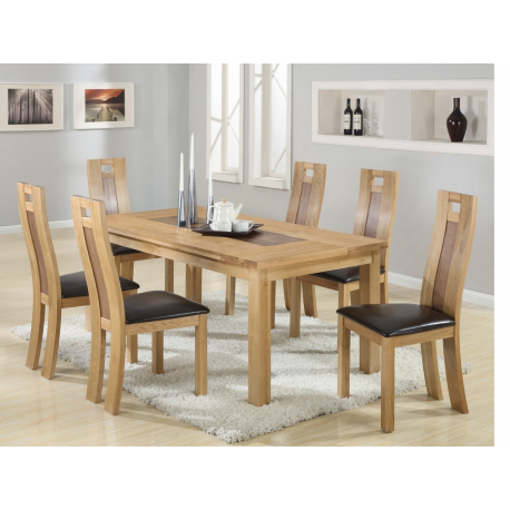 Harvard Solidoak Dining Table 6 Chairs Forever Furnishings