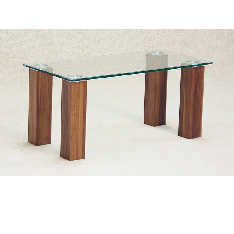 Mirage clear glass coffee table forever furnishings Clear coffee table