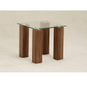 Mirage Clear Glass Side Table