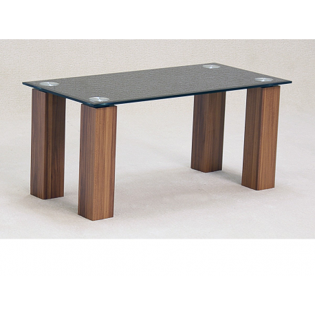 Mirage Black Glass Oak Coffee Table Forever Furnishings
