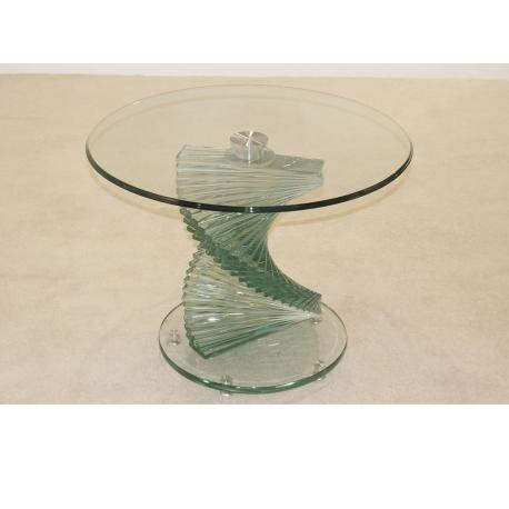 clear glass furniture. Cordoba Twisted Stem Clear Glass Side Table Furniture