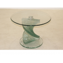 Cordoba Twisted Stem Clear Glass Side Table
