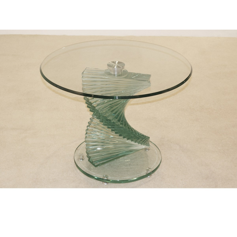 Glass Side Table Damon Coffee Table Amazoncom Convenience