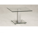 Ankara Clear Glass Side Lamp Table