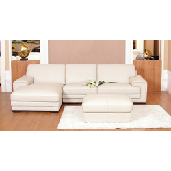 Pisa Leather Corner Suite + Foot Stool- Various Colours