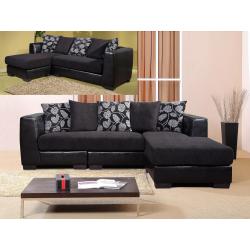 Rovigo Black Corner Sofa