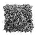 Silver Grey Shaggy Cushion